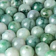 18PCS Natural Grade A Jade (Jadeite) loose Round bead/ Size: 10mm (Wholesale)