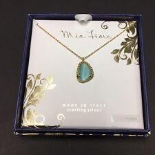 Mia Fiore Made In Italy Sterling Silver/semi-precious Stone Pendant Necklace-NWT