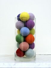 DIY Kit JUMBO Felt Ball Pom Pom Garland Bunting Decoration 30 x 4cm balls