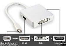 NEW 3 in1 Mini Displayport to HDMI+DVI+DP Adapter Cable for MacBook/Pro/Air/iMac