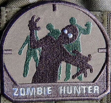 Zombie Hunter Brown Embroidered Patch