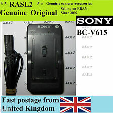 Genuine SONY Charger BC-V615 Series Battery NP-F550 MAVICA FD87 GV-D800 HDR-FX1