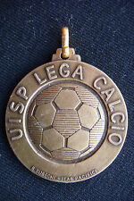 RARE OLD ITALY FOOTBALL SOCCER UISP LEGA CALCIO BRONZE MEDAL SIGN BY R. RUBEGNI