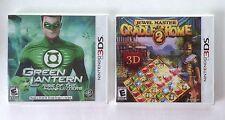 Green Lantern + Cradle of Rome 2  Nintendo 3DS games  NEW