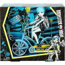 Monster High Boltin' Bicycle Frankie Stein Doll & Vehicle ***