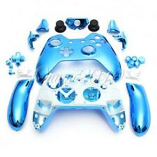 Blue Custom Chrome Controller Gamepad Full Shell Mod Kit & Parts For Xbox one UK