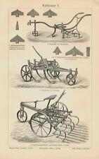 Cultivadora arado Acker agricultura Egge marco de acero original 1902 bbb