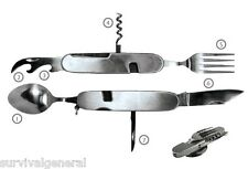 7-IN-1 Multi-Functional Camping Tool Knife Fork Spoon Utility Camping Hunting