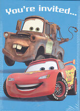 Party Invitations DISNEY PIXAR CARS 8 Pk Cards Birthday Supplies Hallmark