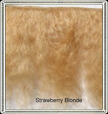"Mohair Weft  Strawberry  Blonde ,  5"" - 6"" X 36""   Ideal for Reborn dolls"