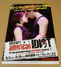 2013 American Idiot JAPAN Theater flyer / mini poster green day broadway musical