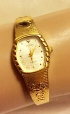CLASSIC ELGIN QUARTZ LADIES WATCH GOLD PLATE BAND ETCHED WITH I Love You HEART