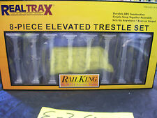 MTH O Gauge Subway Trains Elevated Trestle System Set for Lionel FasTrack 8 Pc's