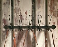 Black Metal Wire Coat Rack 5 Hooks Industrial Vintage Style Mud Room