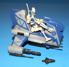 STAR WARS CLONE WARS SEPARATIST DROID SPEEDER & BATTLE DROID LOOSE COMPLETE