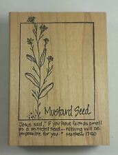 MUSTARD SEED Stampourri Flower Botanical Faith Bible Verse Matthew 17:20
