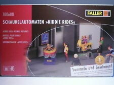 Walthers-FALLER HO Kiddie Rides-Jeep, Train, Fire Truck, Speed Boat KIT 180608