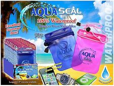 """Waterproof Bag For Cell Phones 5"""" X 6"""" Triple Seal Construction"""