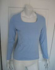 WMNS M BABY BLUE LONG-SL SOFT ACTIVE SHIRT SQUARE NECK by MOSSIMO