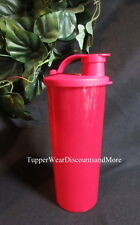 TUPPERWARE NEW Sparkling Starlight Chili Red 16 oz Tumbler Cup FLIP Top Seal