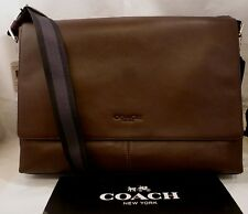 NWT COACH MEN'S LEATHER SULLIVAN MESSENGER BAG MAHOGANY BROWN 71726