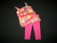 "NEW ""ISLAND ORCHID Fushia"" Capri Pants Girls 3T Spring Summer Clothes Toddler"