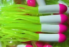 "1.5""  TRI-COLOR CRAPPIE JIG TUBE    100pk    Pink/White/Chartreuse"