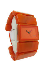 Nixon A726 878 The Vega: Women's Marmalade Stretch Band Lucite Analog Watch
