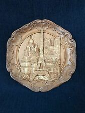 Vintage Wooden Resin 3D Paris  Wall Plaque/Plate
