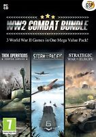 World War 2 Combat Bundle - (PC-CD) 3 Strategy Games in One Mega Value Pack NEW
