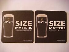 Beer Coaster ~*~ GUINNESS Brewery Irish Stout ~ Dundalk, IRELAND ~ Size Matters