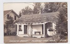 HOUGHTON LAKE MICHIGAN RPPC WAUKETA RESORT COTTAGE USED 1944