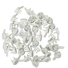 50pcs Hard Wall Hooks Small Hanging Plastic Hook for Picture Frame Photos Mirror