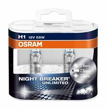 OSRAM Night Breaker Unlimited H1 +110% 64150NBU Globes Halogen Headlamp Bulb