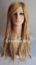 Long Strawberry Blonde Full Layers Heat Resistant Hair Wigs (PW26 14/26)