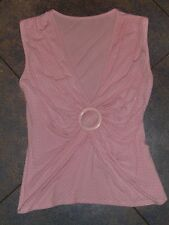 Trend Bluse,Shirt,Top mit Rafung Rosa Gr. 36/38