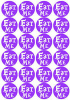 20 Alice in Wonderland Theme EAT ME Discs Edible Cake Toppers Edible Rice Paper