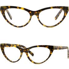 Women's Cat Eye Plastic Acetate Cateye Frames Tortoiseshell Prescription Glasses
