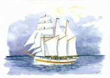"Beautiful, brand new model ship kit by Nordic Class: the ""Vega"" Schooner"