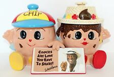 Famous Amos Collectible Cookie Jar Chip and Cookie, Double Cookie Jar NEW w Box