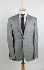NWT. CARUSO Black/White Silk Sport Coat 46/36 R $1550
