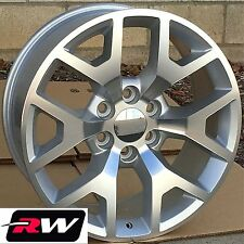 2014 GMC Sierra OE Factory Replica Wheels Silver Rims 22 inch Chevy & Lug Nuts