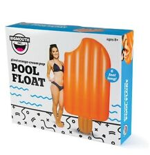 BigMouth Inc Giant Orange Ice Cream Creamsicle Pool Float Raft Popsicle - 6 feet