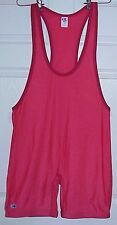 NEW MENS XXL 2XL CK SOLID RED LYCRA SINGLET, TRACK, CYCLING, WRESTLING, LIFTING