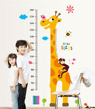 Giraffe Height Chart Wall Stickers For kid Growth Resuable Wall Decals Paper