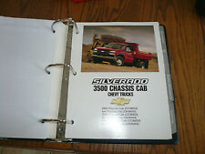 2003 Chevrolet Silverado 3500 Chassis Cab Product Portfolio Section - OEM