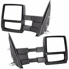 Manual 04-14 Ford F150 Pickup Truck Towing Telescoping Mirrors Set Pair