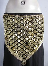 Tribal Gold Coin Belt|Turkish Egyptian Belly dance Hip Scarf Gypsy Kuchi Jewelry