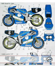 BOLD'OR 85 - LM 86 GAULOISES #6 DECAL for FUJIMI 1/12 YAMAHA FZR750