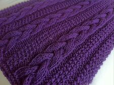 Knitting pattern- Braided Cable Chunky Blanket / Throw